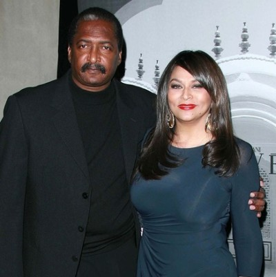 Mathew Knowles and Tina Knowles at the Giorgio Armani Prive Show
