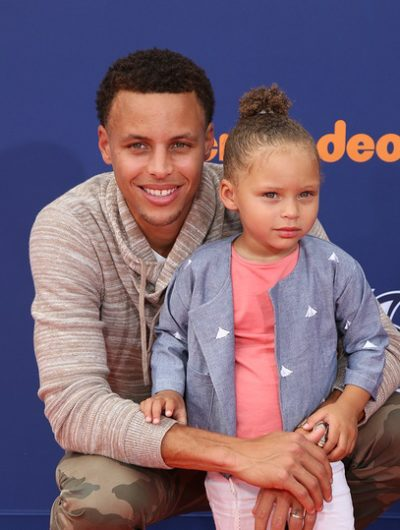 Stephen Curry and his daughter Riley Curry