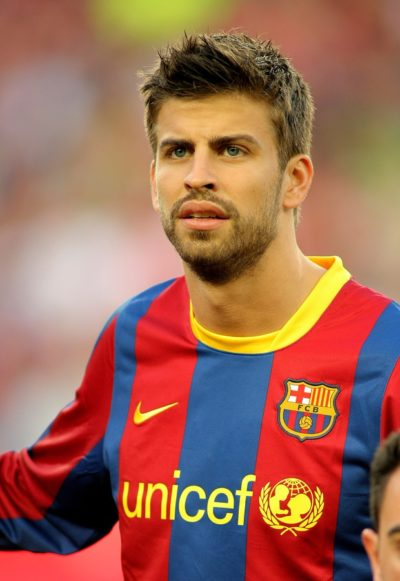 BARCELONA - APRIL 9: Gerard Pique of Barcelona before the match