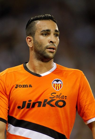 BARCELONA - AUG, 24: Adil Rami of Valencia CF in action during a