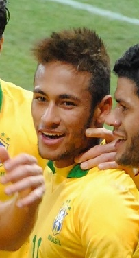 GENEVA, SWITZERLAND - MARCH 21, 2013: Brazilian soccer team cele