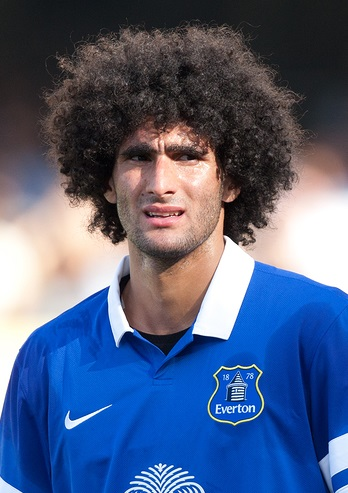 LOS ANGELES - AUGUST 3: Everton M Marouane Fellaini during the 2