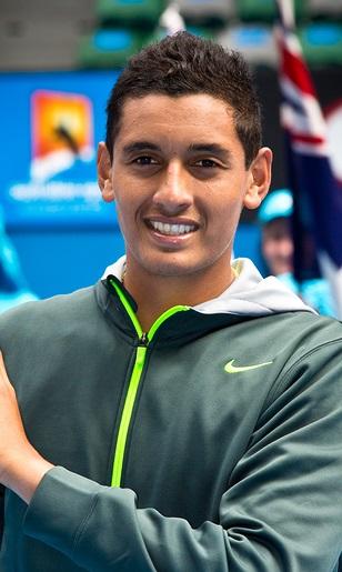 MELBOURNE - JANUARY 26: Nick Kyrgios of Australia winning the 20