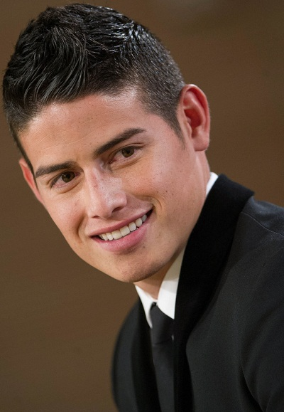 2014 Soccer - James Rodriguez Presented as Real Madrid's New Player at Santiago Bernabeu Stadium in