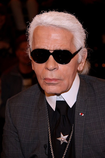 "Karl Lagerfeld Appears on the ""Markus Lanz"" Television Talk Show in Hamburg on March 11, 2011"