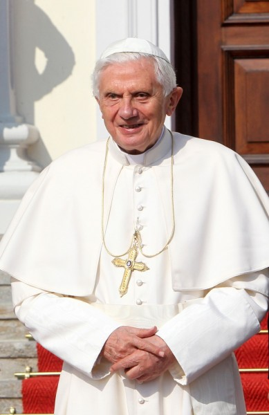 Pope Benedict XVI Arrives at Schloss Bellevue Palace in Berlin on September 22, 2011