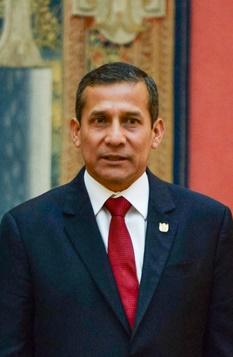 Spanish Royals Receive President of Peru Ollanta Humala Tasso at El Pardo Palace in Madrid on July 8, 2015