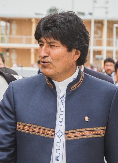 The President Of Bolivia Evo Morales At Expo 2015 In Milan, Ital
