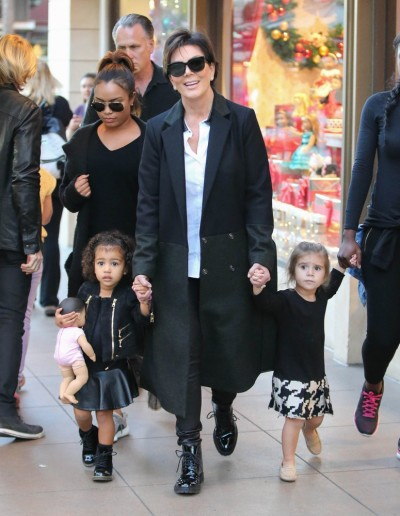Kris Jenner, North West and Penelope Disick Sighted in Los Angeles on November 23, 2015
