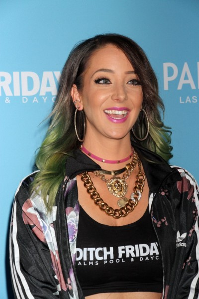 Jenna Marbles Hosts Ditch Fridays at the Palms Pool in Las Vegas on May 15, 2015