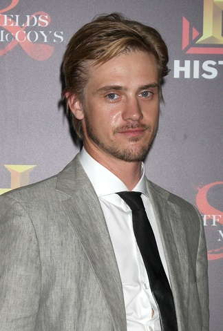 "LOS ANGELES - SEP 22:  Boyd Holbrook arrives at the ""HATFIELDS &"