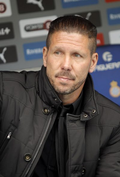 BARCELONA - MARCH, 14: Diego Simeone manager of Atletico Madrid