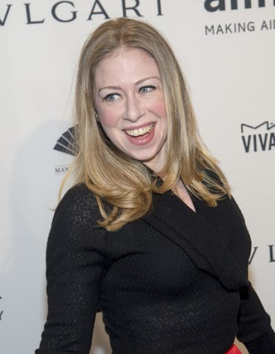 NEW YORK-FEB 5: Chelsea Clinton attends the 2014 amfAR New York
