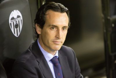 VALENCIA, SPAIN - JANUARY 25: Unai Emery during Spanish League m