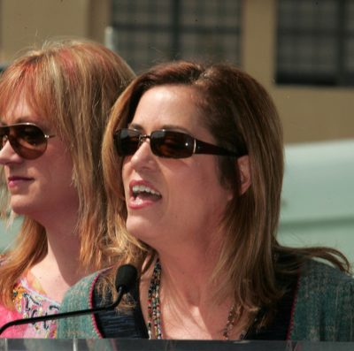 Debbie Peterson and Vicki Peterson at the Hollywood Walk of Fame