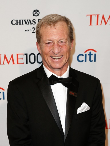 NEW YORK-APR 29: Environmentalist Tom Steyer attends the Time 10