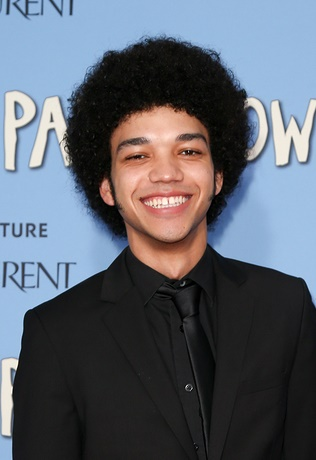 "NEW YORK-JUL 21: Actor Justice Smith attends the ""Paper Towns"" p"